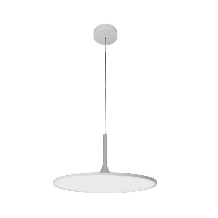 Vonn Lighting Salm 24.062-in Sand White Oval LED Pendant