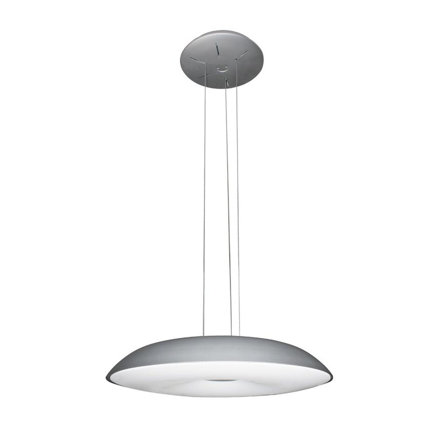 Vonn Lighting Alcyone 23.25-in Satin Nickel Single Dome Pendant