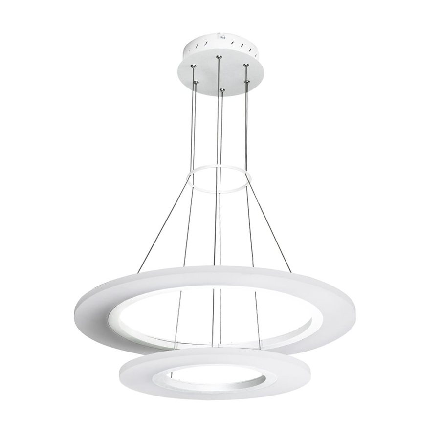 Vonn Lighting Tania 23.625-in 2-Light White Abstract LED Chandelier