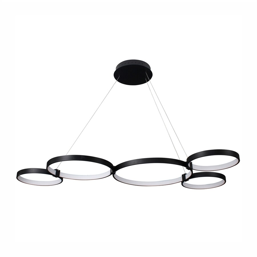 Vonn Lighting Capella 27.95-in W 5-Light Black Kitchen Island Light