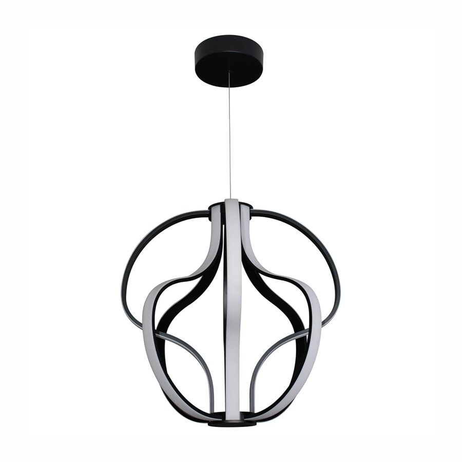 Vonn Lighting Capella 20.47-in Black Single Geometric Pendant