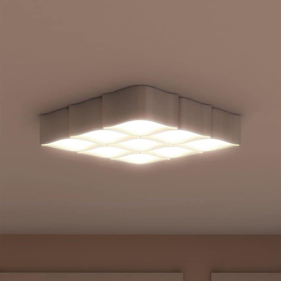 Vonn Lighting Asellus 19-in W Satin nickel LED Flush Mount Light ENERGY STAR