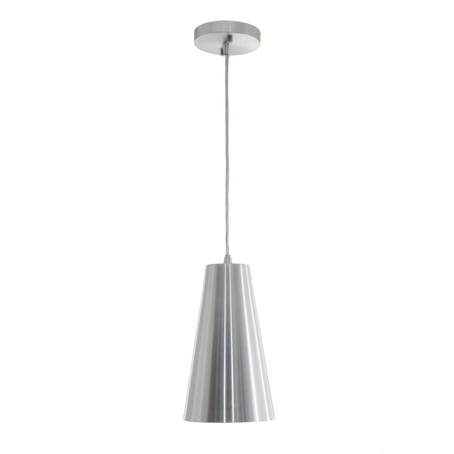 Vonn Lighting Gatria 6.3-in Brushed Aluminum Single Cone Pendant