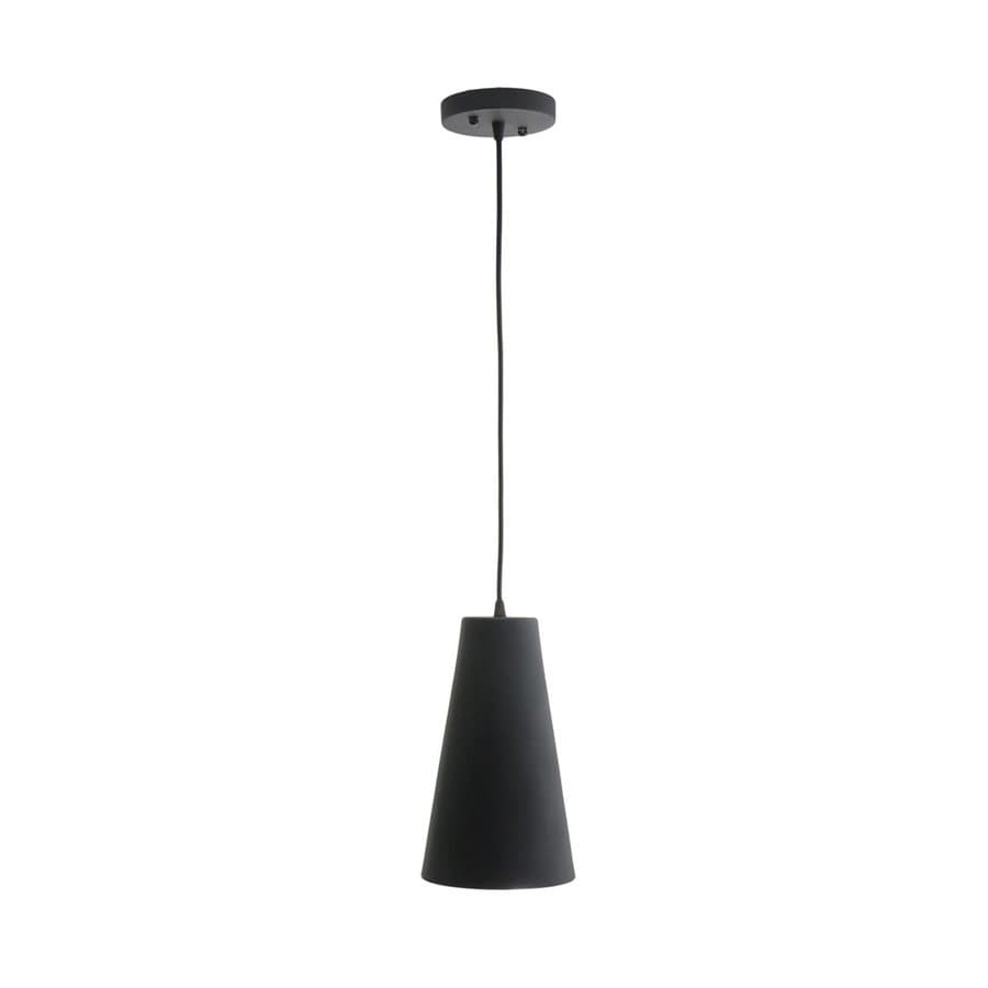 Vonn Lighting Gatria 6.3-in Black Single Cone Pendant