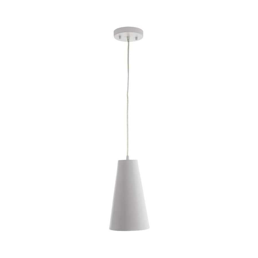 Vonn Lighting Gatria 6.3-in White Cone LED Pendant