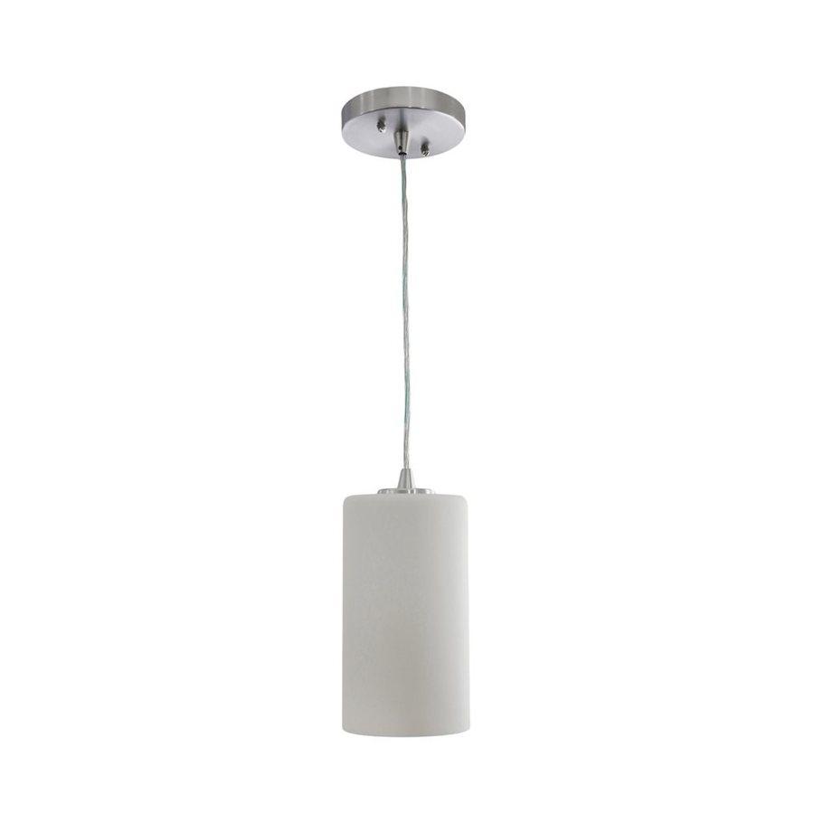 Vonn Lighting Subra 4.75-in White Single Cylinder Pendant