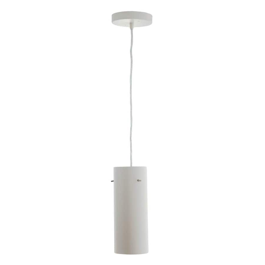 Vonn Lighting Perseus 3.94-in White Cylinder LED Pendant