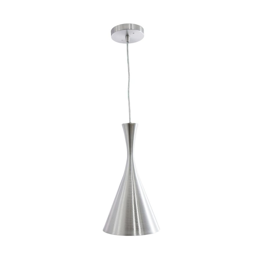 Vonn Lighting Calaeno 7.56-in Brushed Aluminum Cone LED Pendant