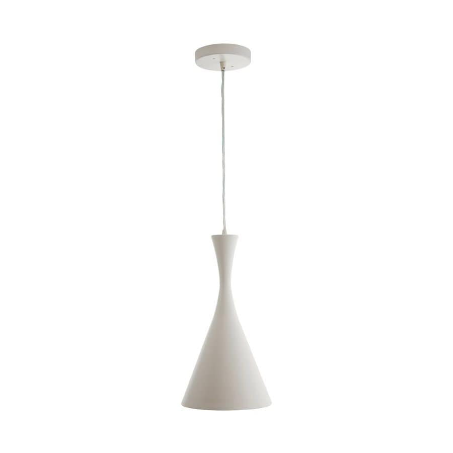Vonn Lighting Calaeno 7.56-in White Cone LED Pendant