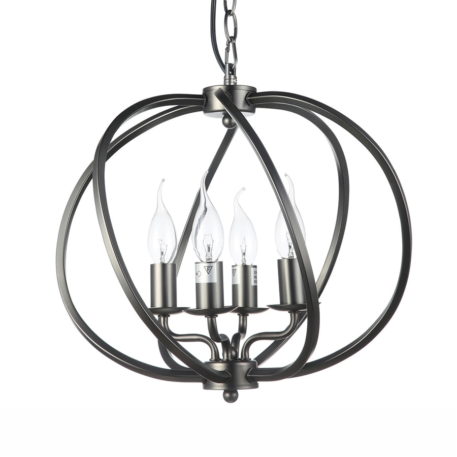 Vonn Lighting Sargas 14.17-in Architectural Bronze Single Cage Pendant