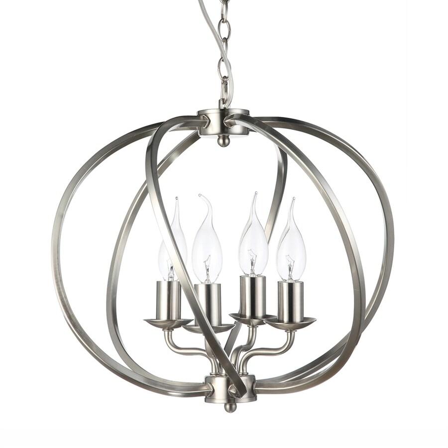 Vonn Lighting Sargas 14.17-in Satin Nickel Single Cage Pendant