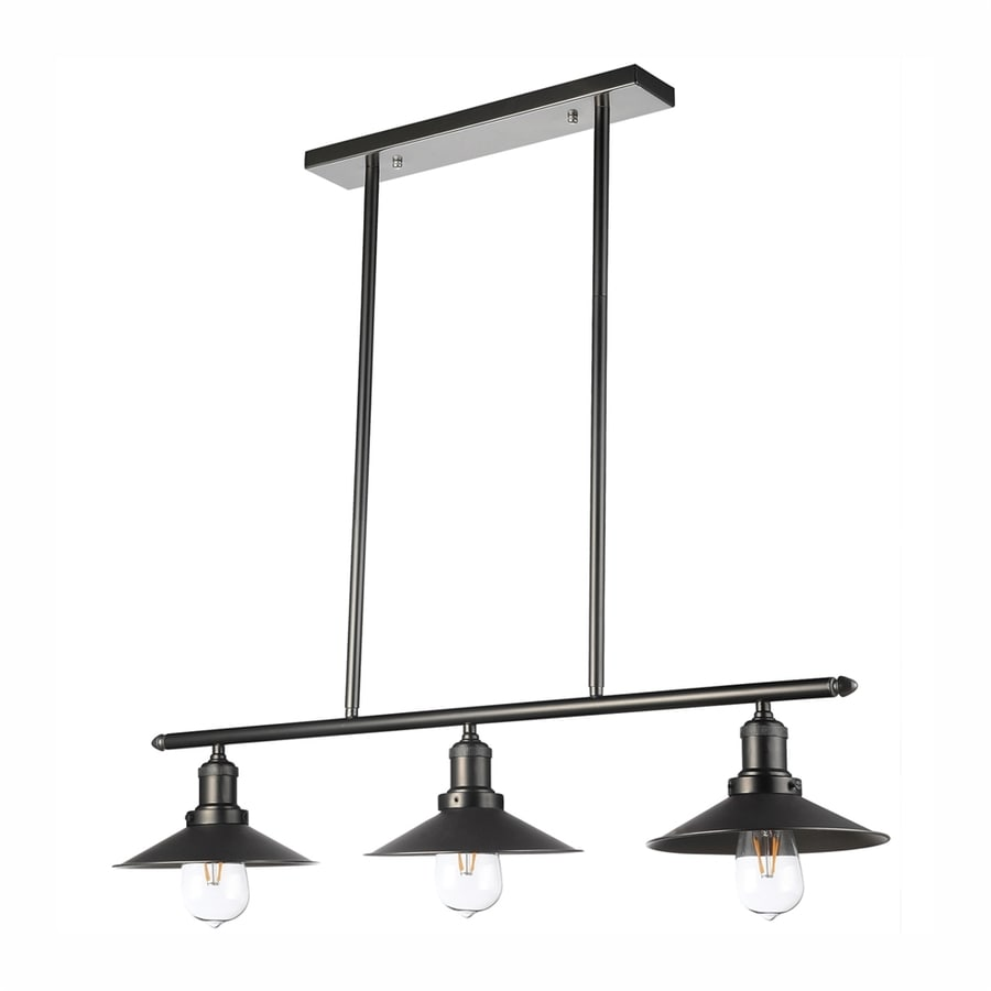 Vonn Lighting Delphinus 3.15-in W 3-Light Architectural Bronze Kitchen Island Light with Metal Shade