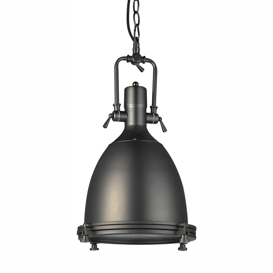 Vonn Lighting Dorado 14.13-in Architectural Bronze Industrial Single Bell Pendant