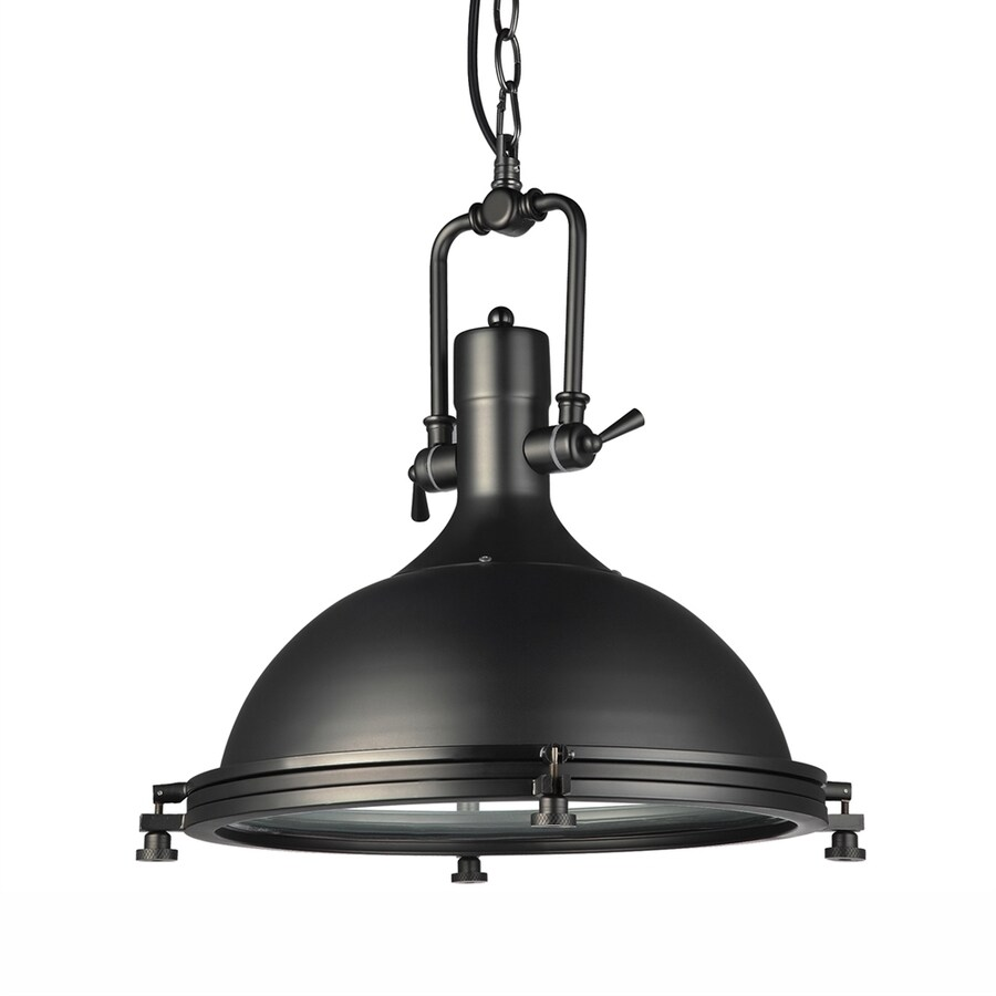 Vonn Lighting Dorado 15.75-in Architectural Bronze Industrial Single Dome Pendant