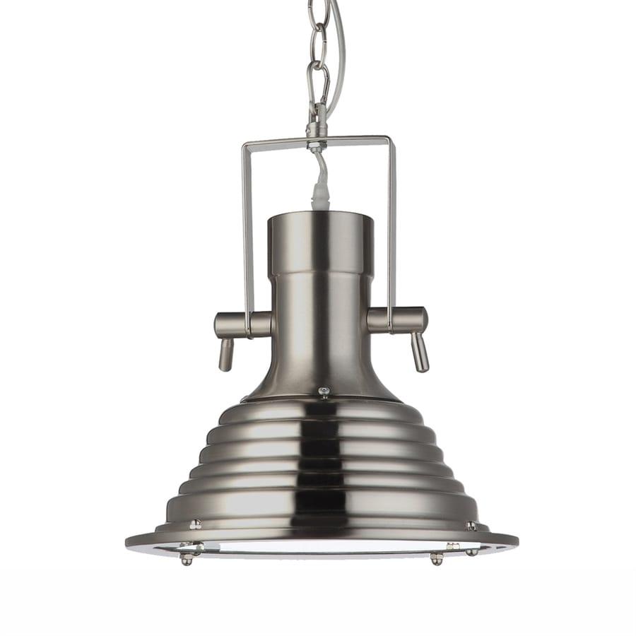 Vonn Lighting Dorado 11.19-in Satin Nickel Industrial Bell LED Pendant