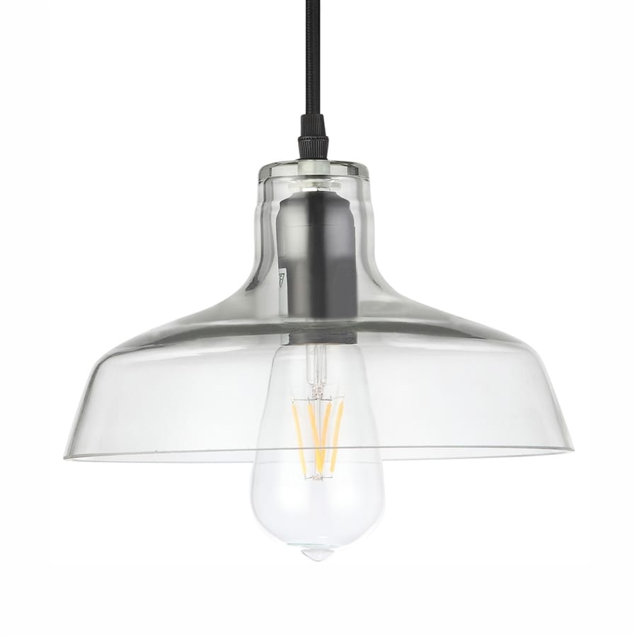 Vonn Lighting Delphinus 9.67-in Architectural Bronze Industrial Clear Glass Warehouse LED Pendant