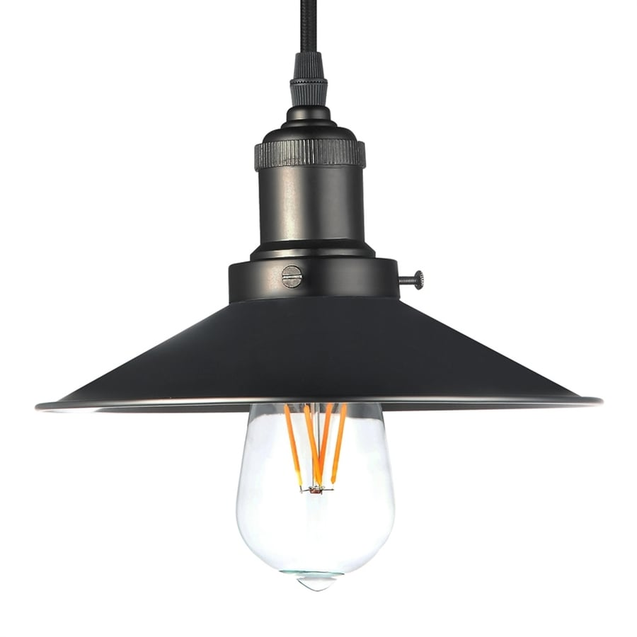 Vonn Lighting Delphinus 8.69-in Architectural Bronze Industrial Single Warehouse Pendant