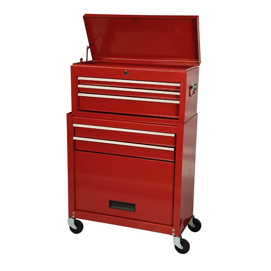 International Tool Storage Economy 37-in x 24.5-in 5-Drawer Friction Steel Tool Cabinet (Red)