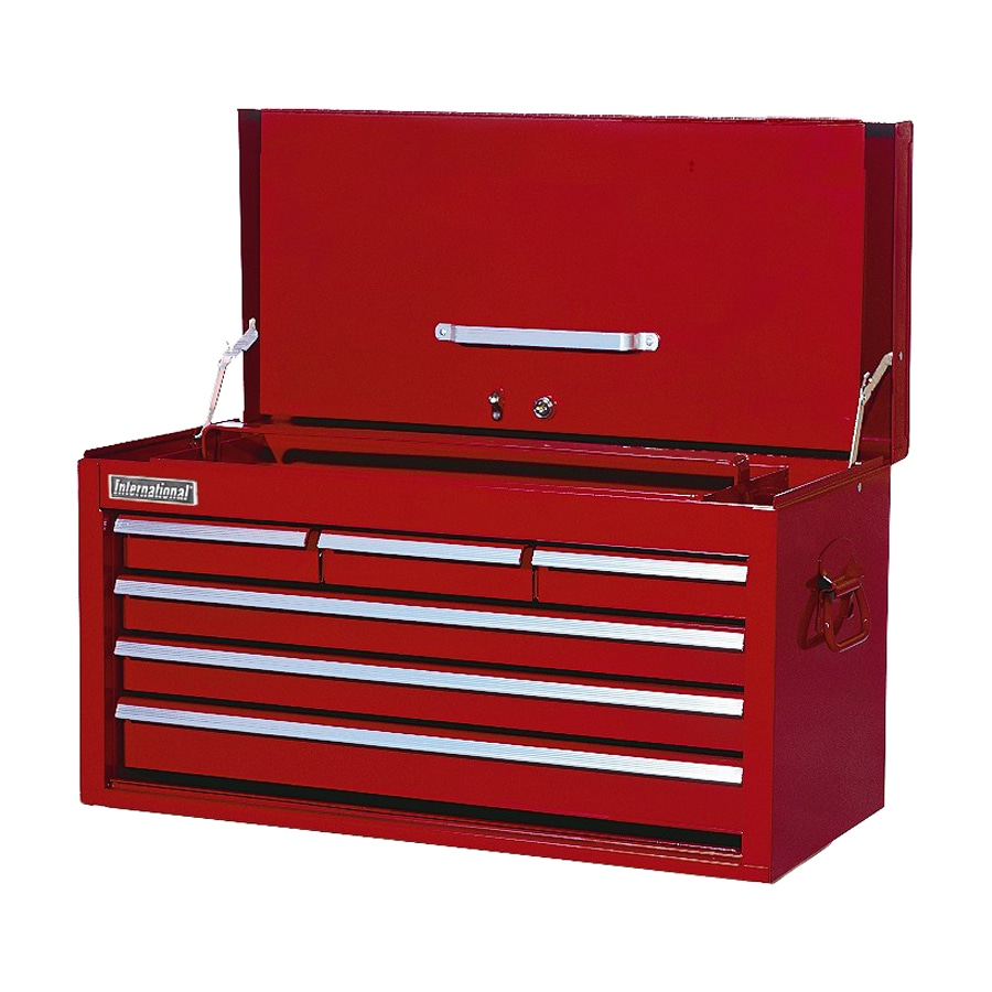 International Tool Storage Classic 14.5-in x 26-in 6-Drawer Steel Tool Chest (Red)
