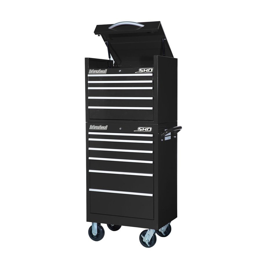 International Tool Storage Super Heavy Duty 64.25-in x 27-in 11-Drawer Ball-Bearing Steel Tool Cabinet (Black)