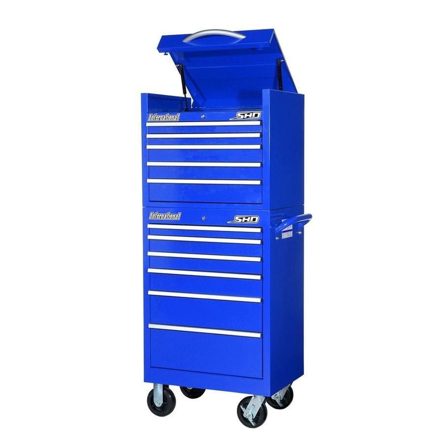 International Tool Storage Super Heavy Duty 11-Drawer Ball-Bearing Steel Tool Cabinet (Blue)