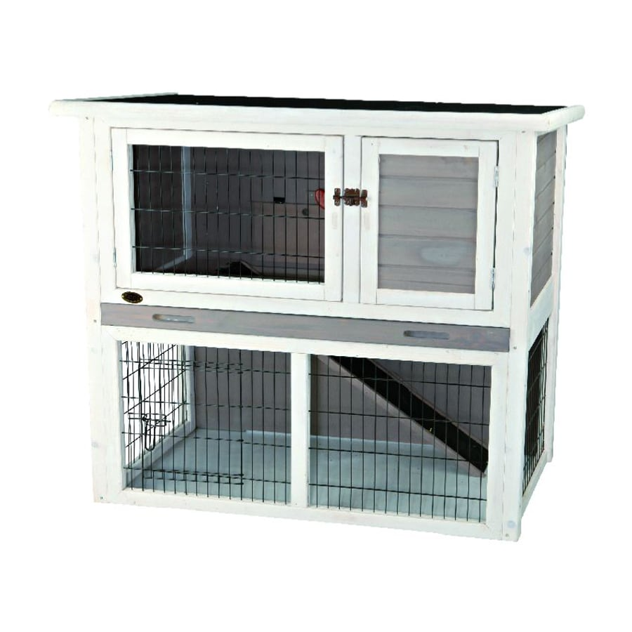 Trixie Pet Products Natura White Wood Rabbit Hutch