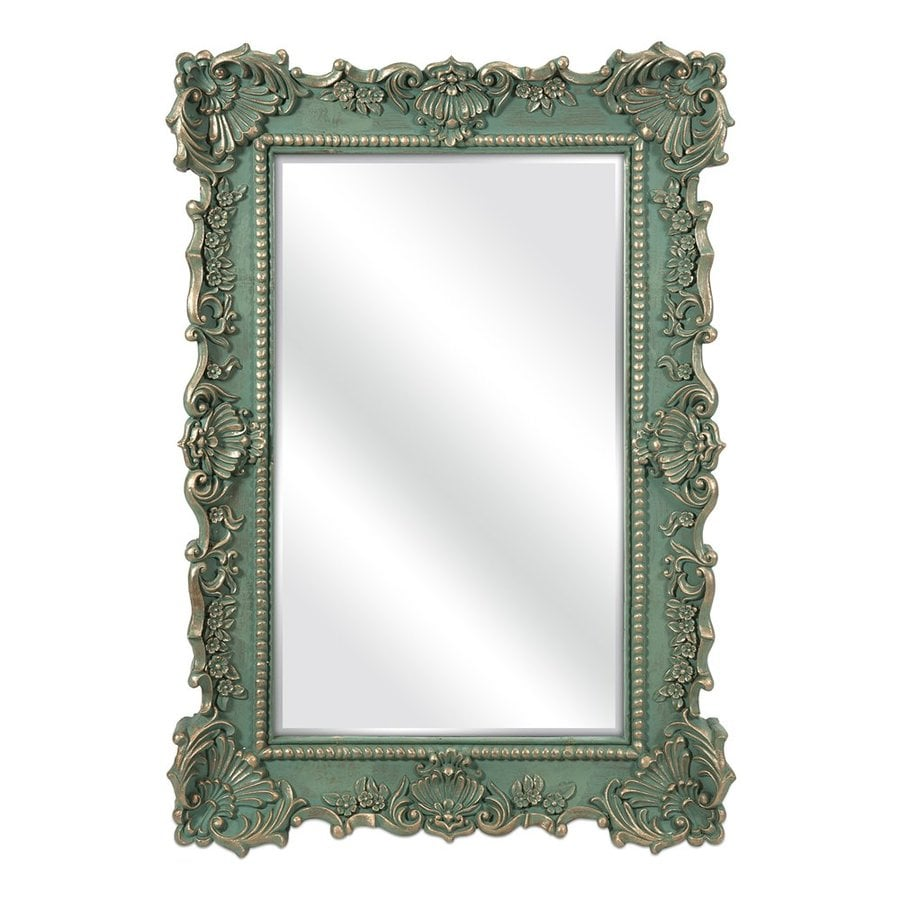 Imax Worldwide Sophia Green Beveled Wall Mirror