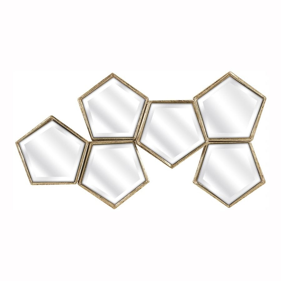 Imax Worldwide Arlene Gold Beveled Pentagon Wall Mirror