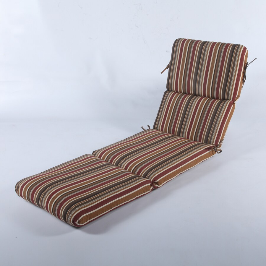 Casual Cushion Brannon redwood Stripe Standard Patio Chair Cushion for Chaise Lounge