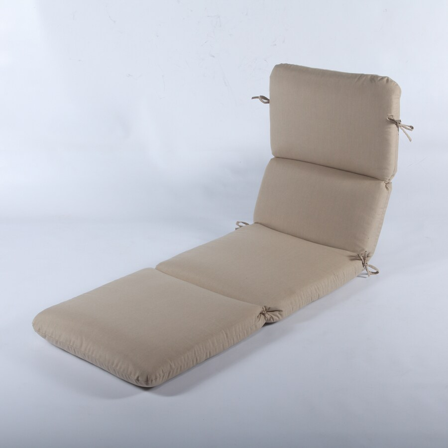 Casual Cushion Spectrum sand Solid Standard Patio Chair Cushion for Chaise Lounge