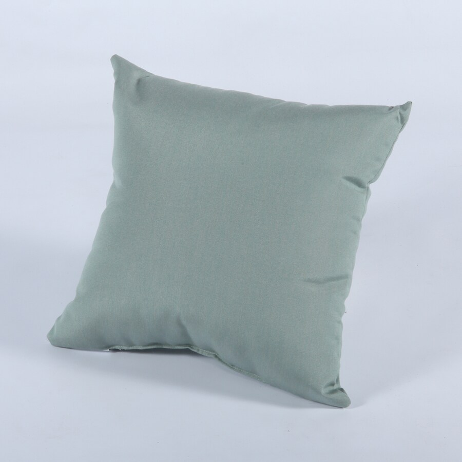 Casual Cushion 15-in W x 15-in L Canvas Spa Square Indoor Decorative Pillow