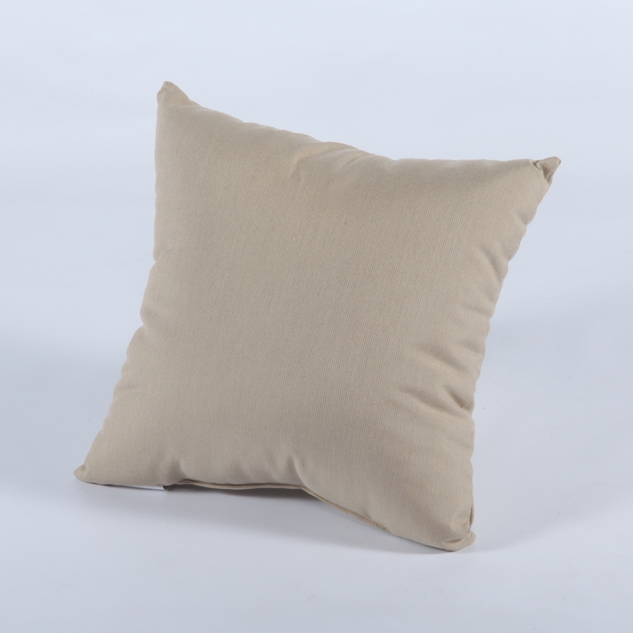 Casual Cushion 15-in W x 15-in L Spectrum Sand Square Indoor Decorative Pillow
