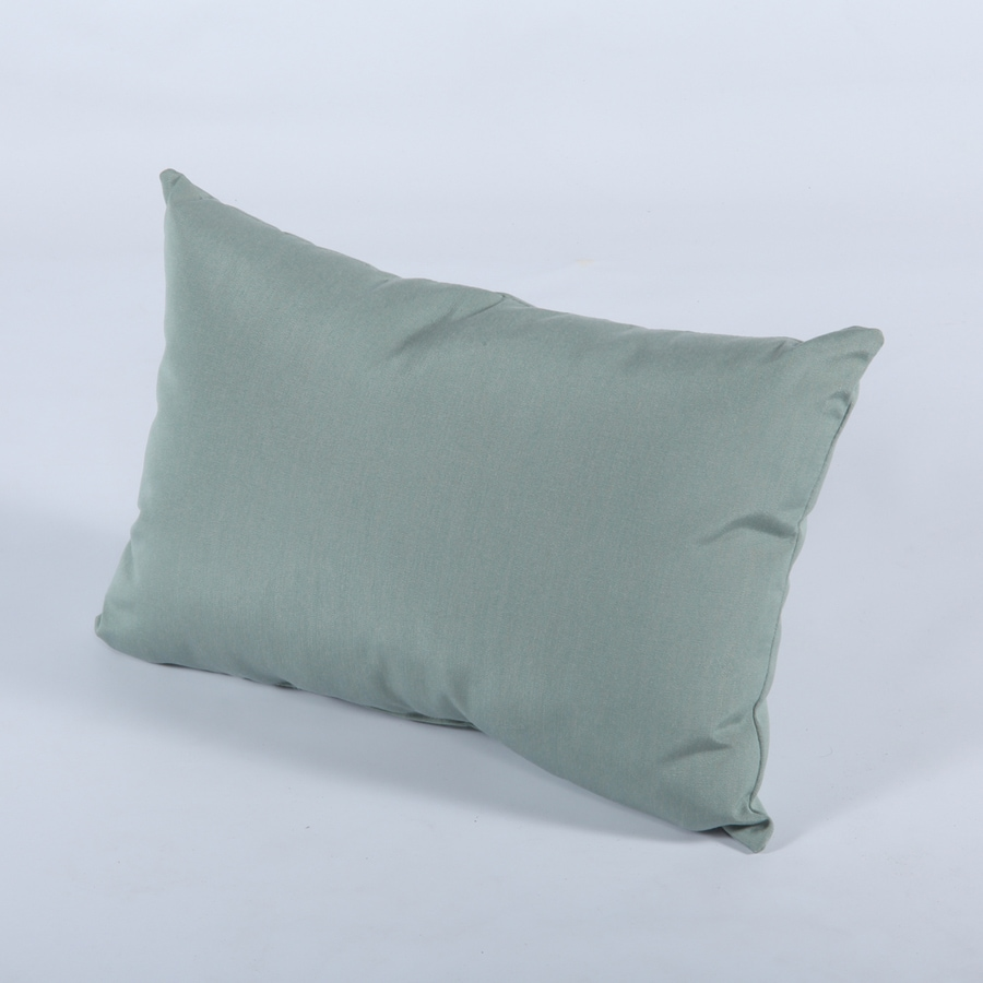 Casual Cushion 12-in W x 19-in L Canvas Spa Oblong Indoor Decorative Pillow