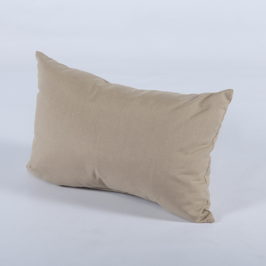 Casual Cushion 12-in W x 19-in L Spectrum Sand Oblong Indoor Decorative Pillow