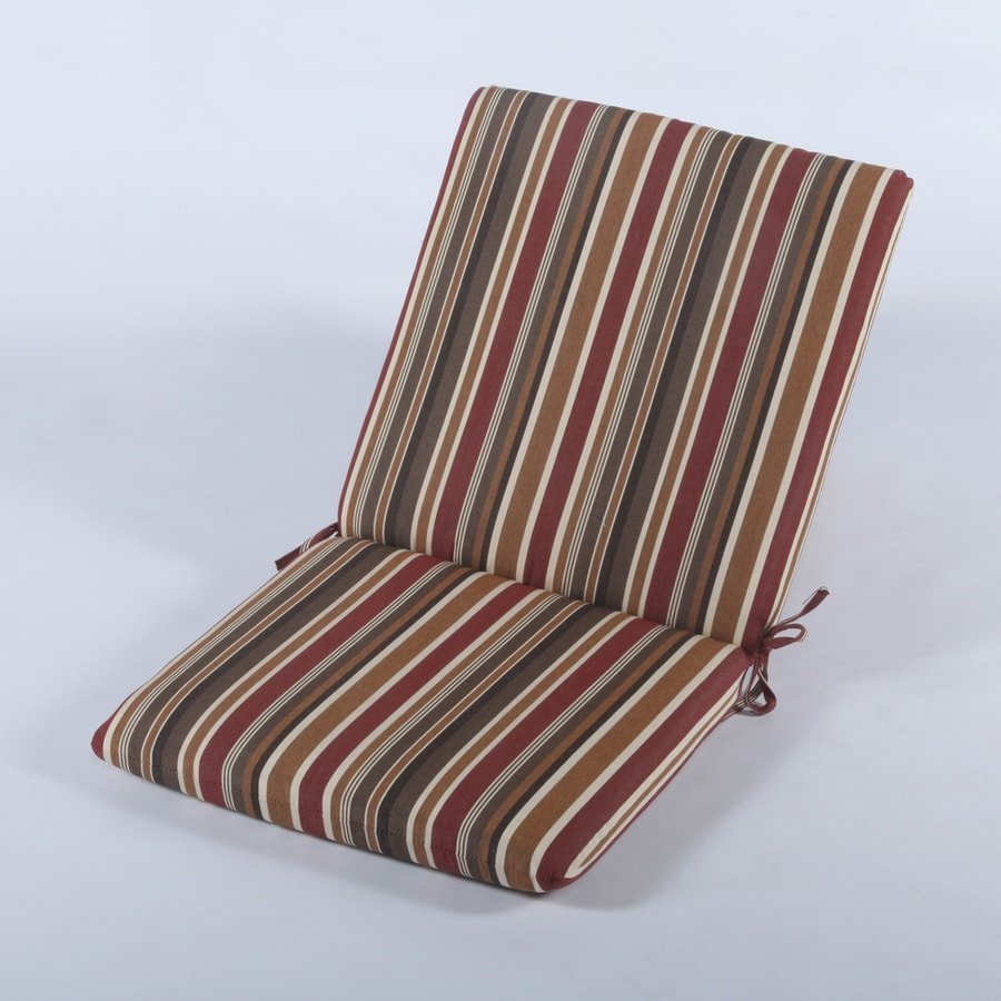 Casual Cushion Brannon Redwood Stripe Cushion for High-Back Chairs