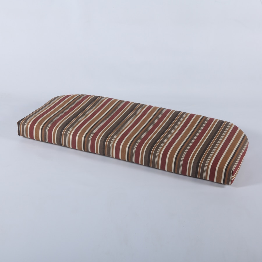 Casual Cushion Brannon Redwood Stripe Cushion for Loveseats/Benches