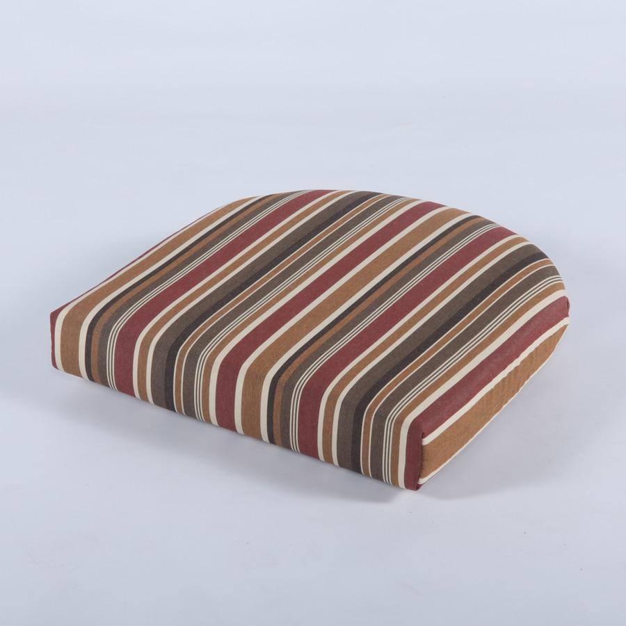 Casual Cushion Striped Brannon Redwood Sunbrella Universal Seat Pad