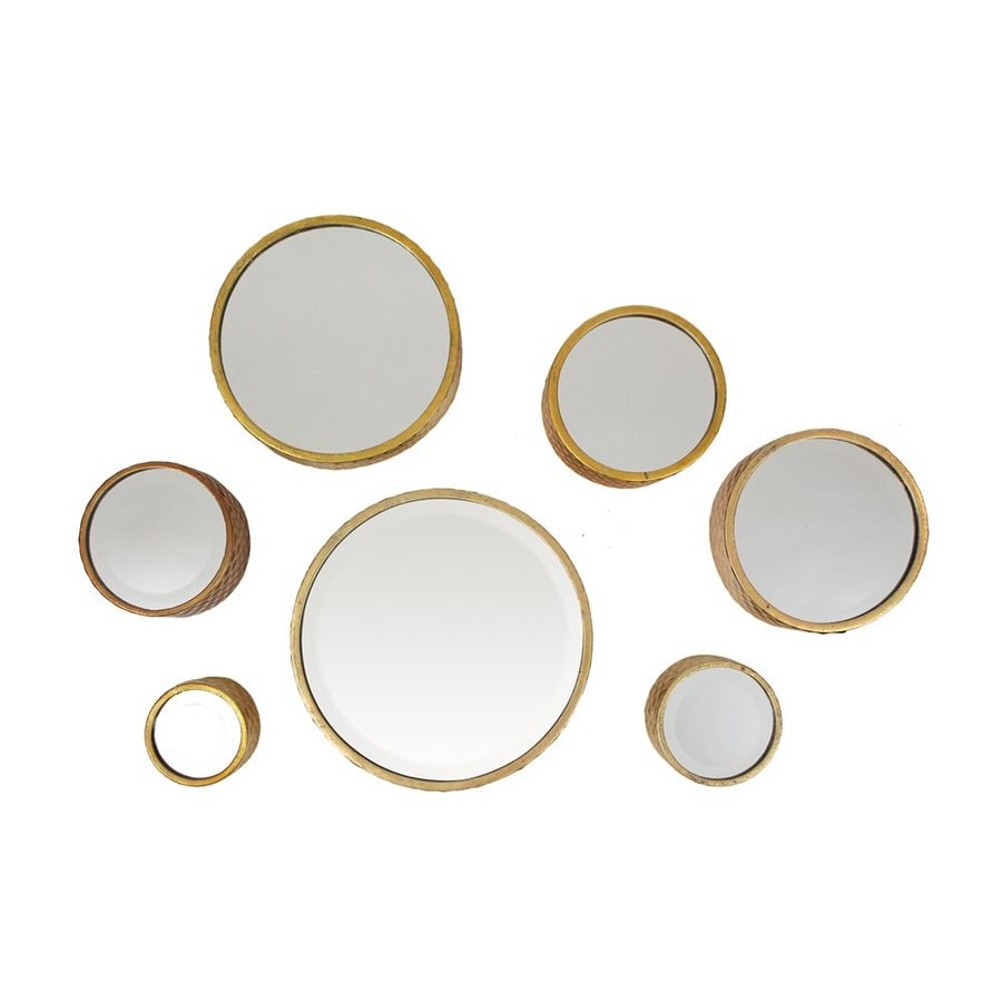 Aspire Home Accents Margate Gold Polished Round Wall Mirror