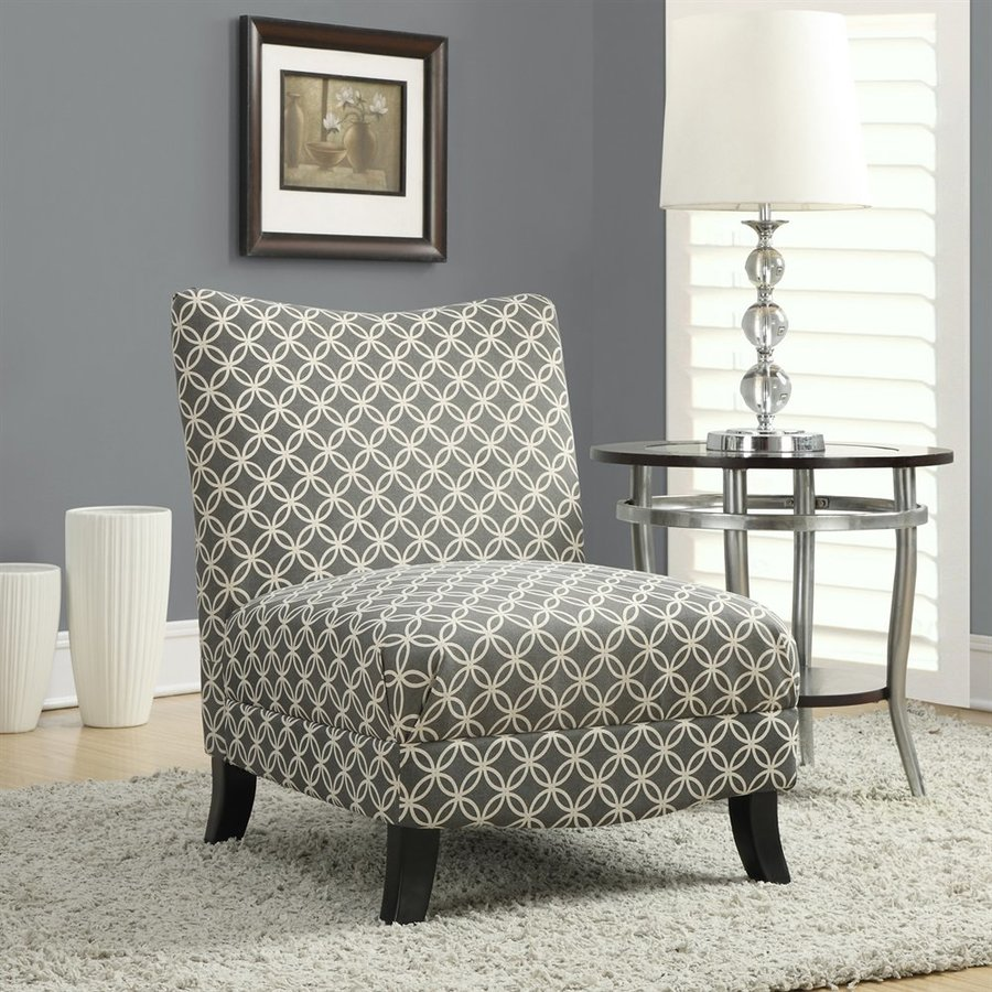 Monarch Specialties Gray Accent Chair