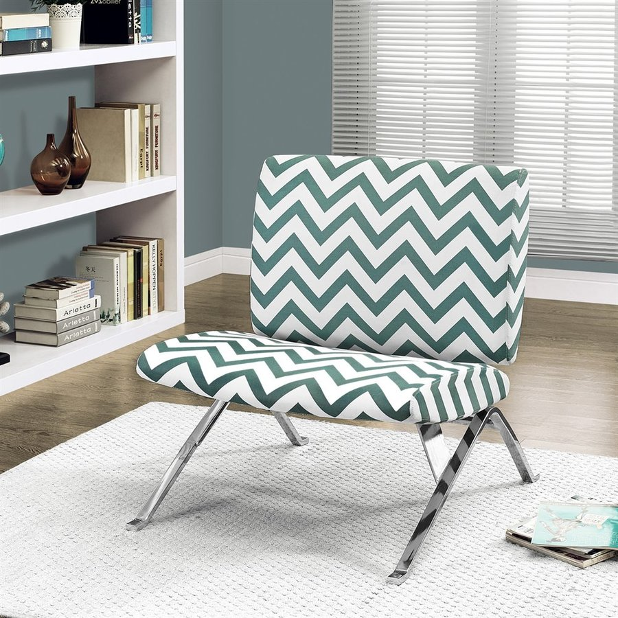 Monarch Specialties Teal Cotton Accent Chair