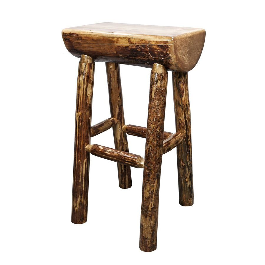 Montana Woodworks Glacier Country 30-in Bar Stool
