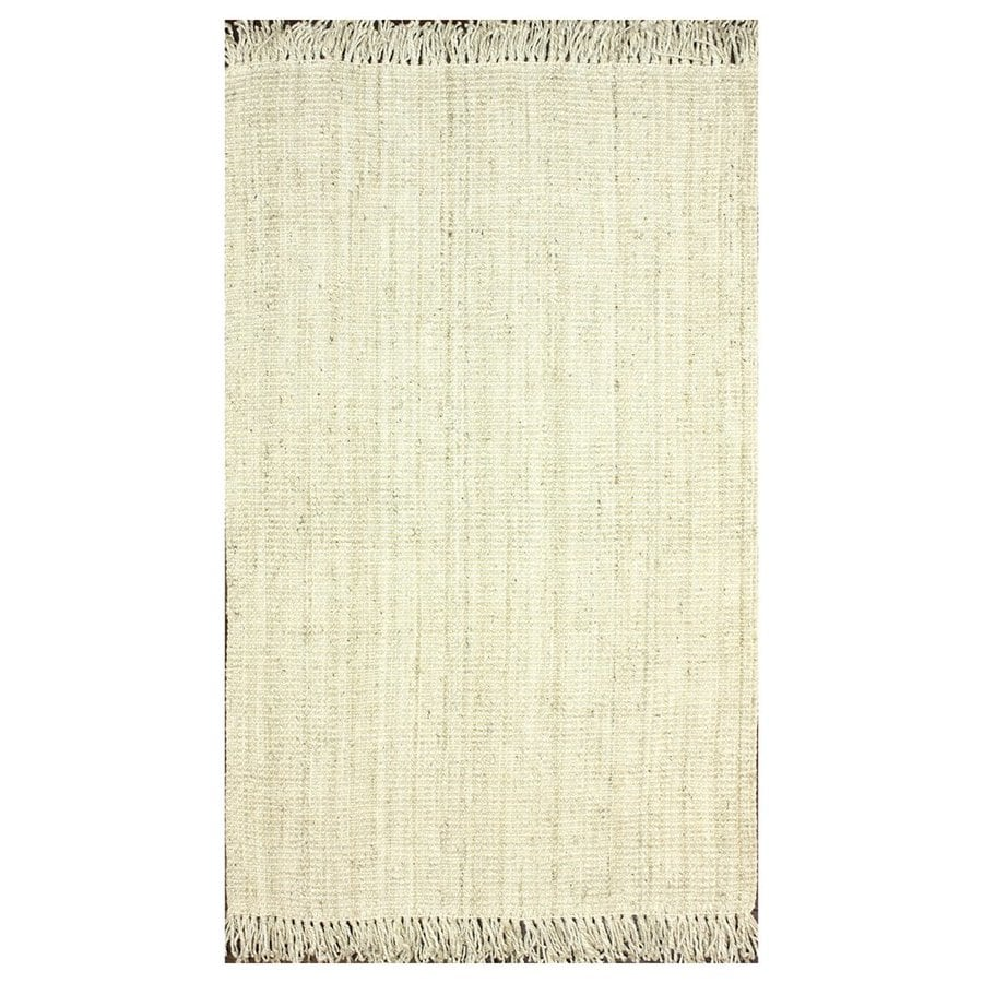 nuLOOM Natura Bleached Rectangular Indoor Woven Area Rug (Common: 8 x 11; Actual: 8.5-ft W x 11.5-ft L)