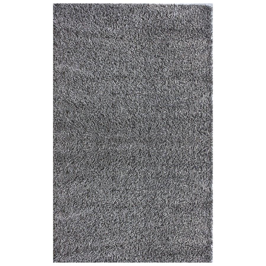 nuLOOM Grey Rectangular Indoor Shag Area Rug (Common: 5 x 8; Actual: 5-ft 3-in W x 8-ft L)