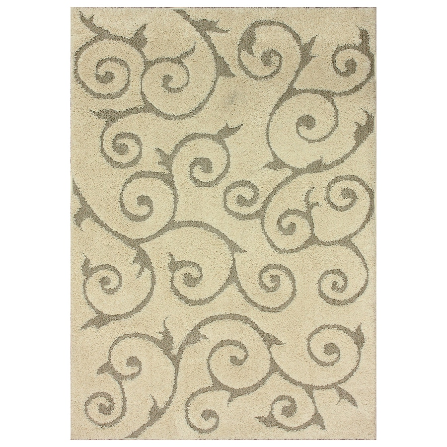 nuLOOM Cream Rectangular Indoor Machine-Made Nature Area Rug (Common: 5 x 7; Actual: 5.25-ft W x 7.5-ft L)