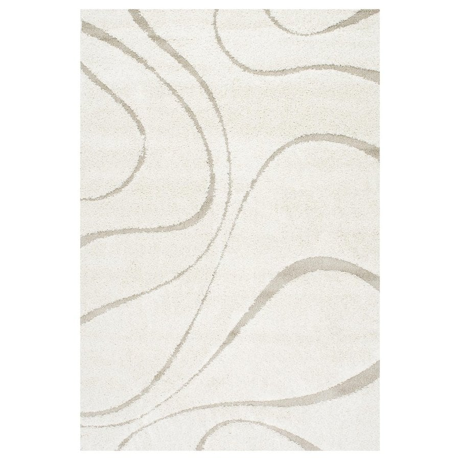nuLOOM Cream Rectangular Indoor Machine-Made Area Rug (Common: 5 x 7; Actual: 5.25-ft W x 7.5-ft L)