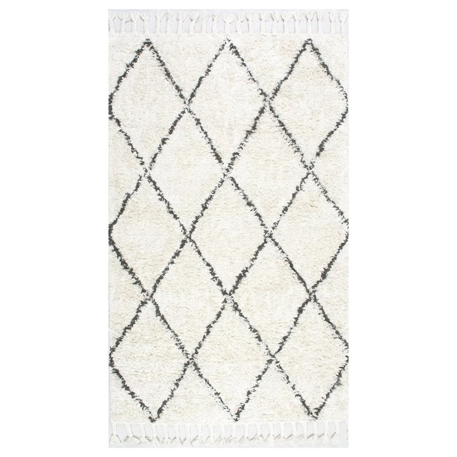nuLOOM Fez Natural Rectangular Indoor Machine-Made Area Rug (Common: 3 x 5; Actual: 3-ft W x 5-ft L)