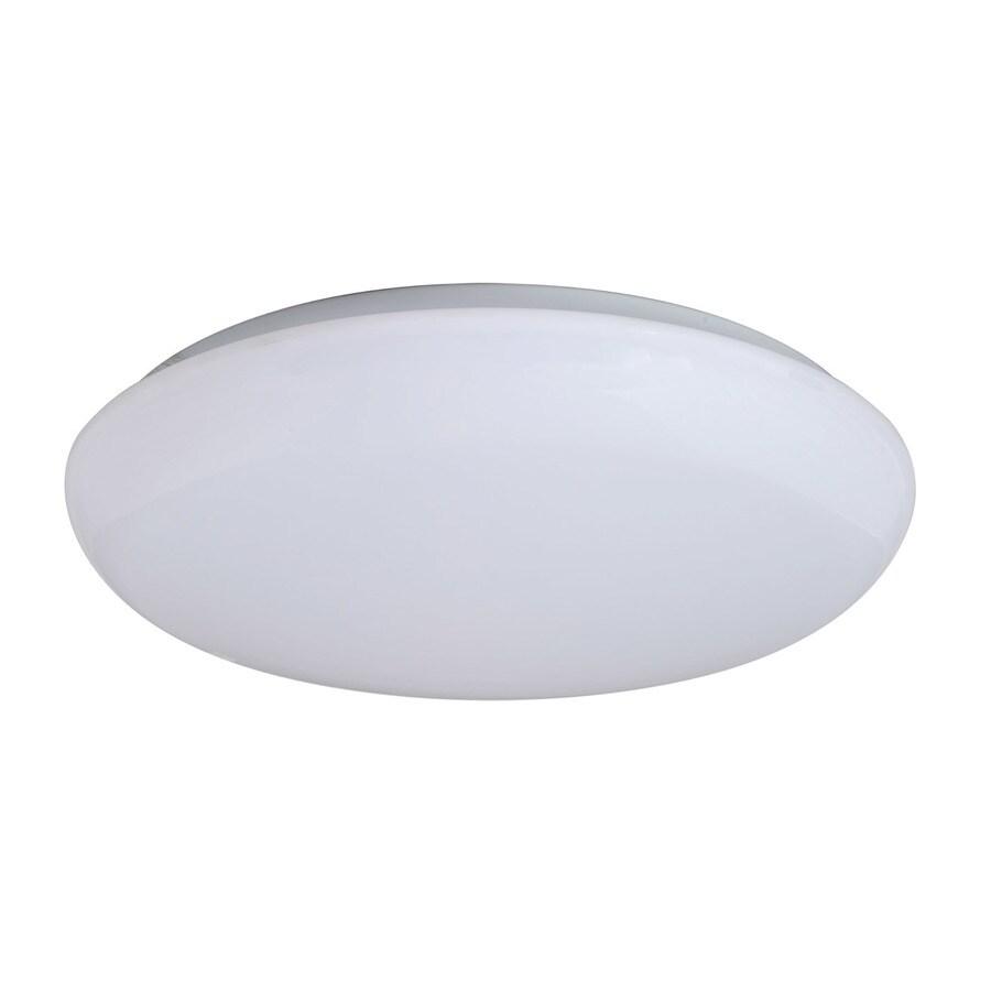 Amax Lighting Mushroom 19-in W White LED Flush Mount Light