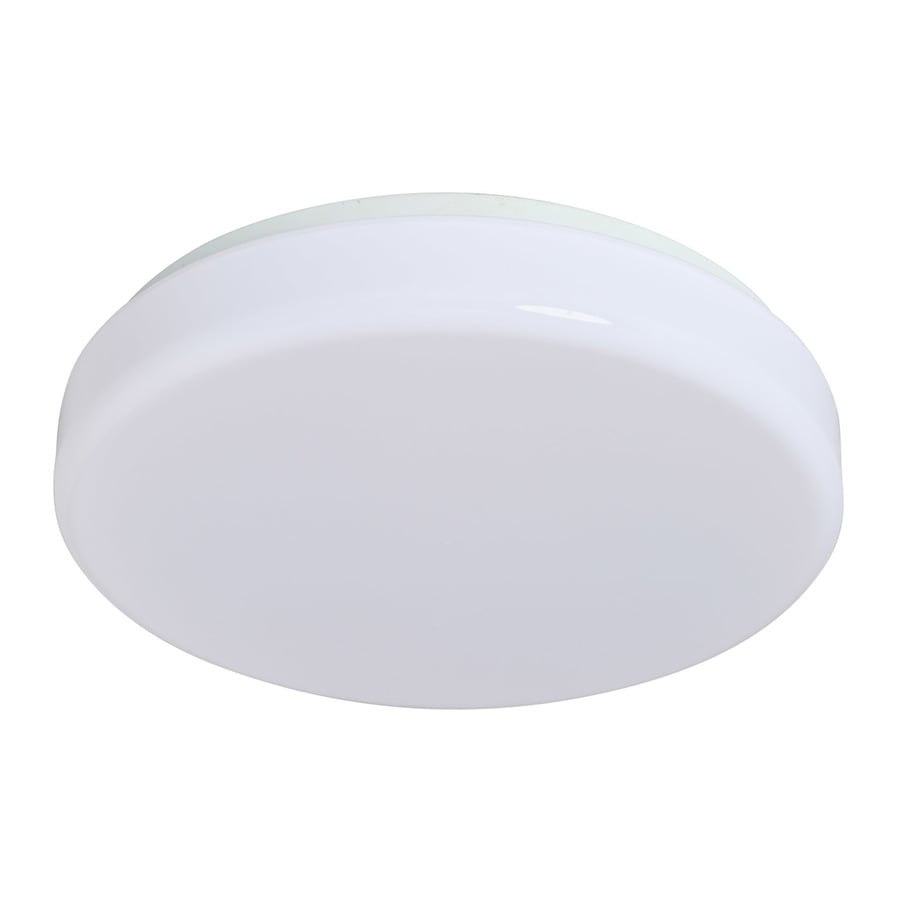 Amax Lighting 14-in W White LED Flush Mount Light