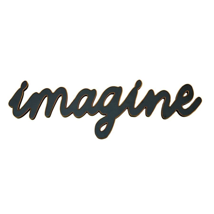 ASAP WORDS Imagine 1-Piece 20.5-in W x 6.5-in H Frameless Wood 3D Art Wall Art