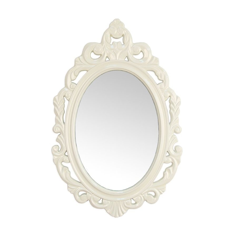 Shop stratton home decor baroque cream polished oval wall mirror at - Oval wall decor ...